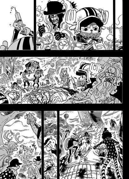 海贼王漫画811话:草帽迎战四皇大妈凯多 佐乌