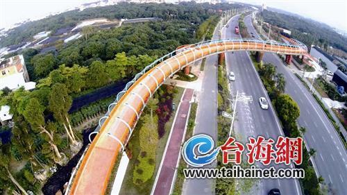 """""""彩虹桥""""横跨漳州西环城路图片"""