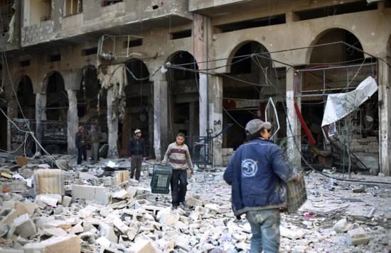 叙利亚新人废墟中拍婚礼照鼓舞人心【5】