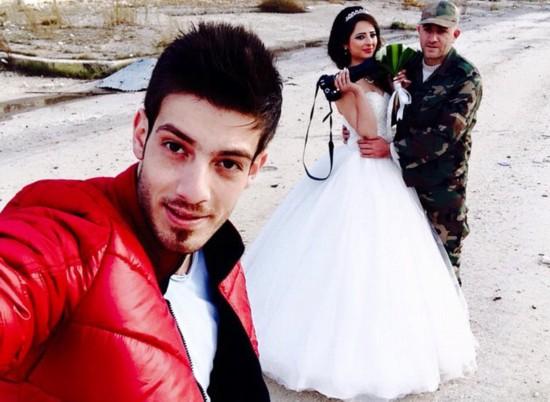 叙利亚新人废墟中拍婚礼照鼓舞人心【8】