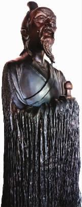 苏文胜乌木雕作品《天问》。