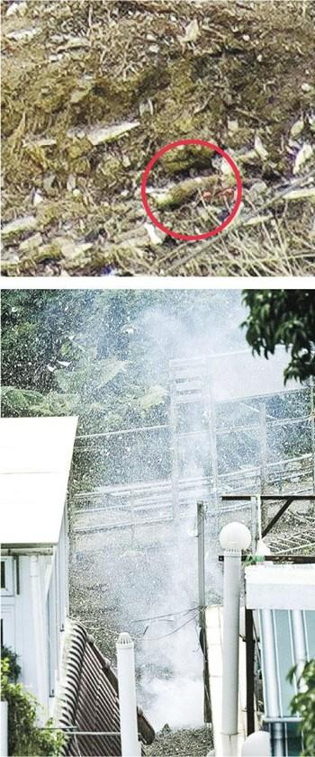 香港发现两枚战时迫击炮弹顺利将其引爆(图)
