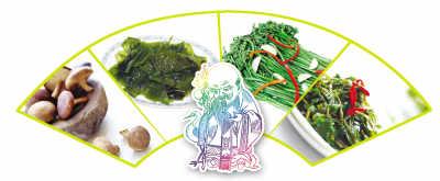 蕨菜祛炎症、马齿苋杀菌 老祖宗的四大长寿菜