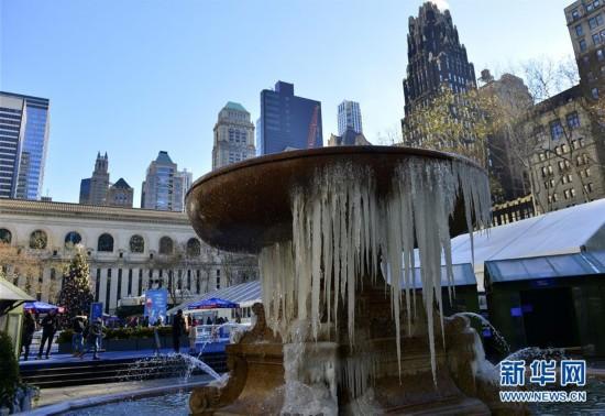 美国纽约气温骤降
