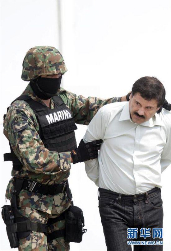 墨西哥头号毒枭古斯曼再度落网 曾几度越狱