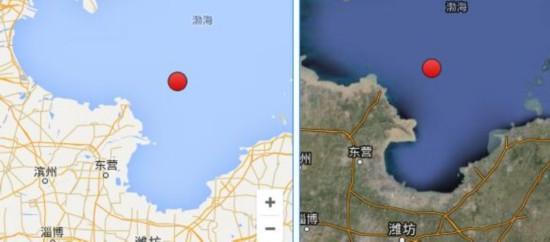渤海海域3.0级地震