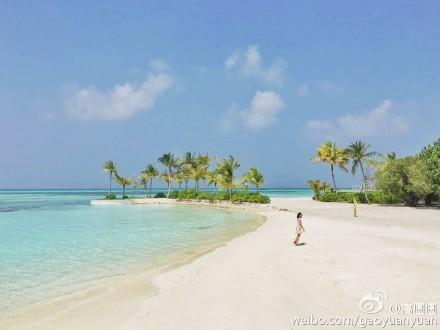 美出新高度!高圆圆海岛度假晒美照 尽显女神文艺气质
