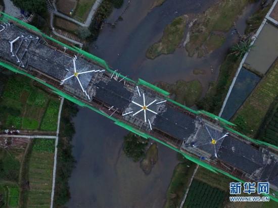 广西三江风雨桥 整容 迎新