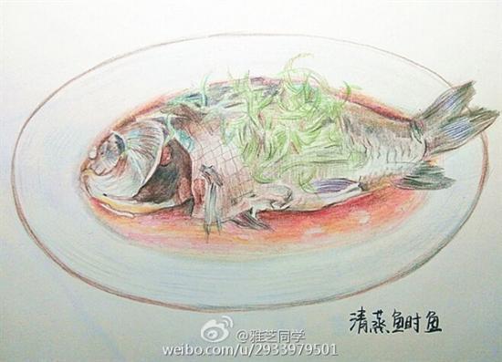 逼真!美女大学生手绘江苏美食走红:看馋网友