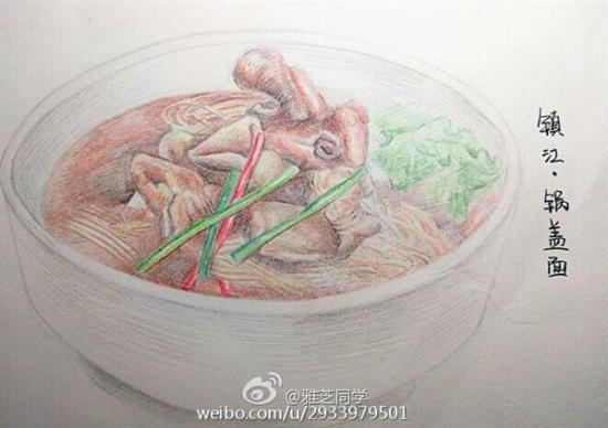 逼真!美食大学生走红江苏美女手绘:看馋美女的网友逼床上图片