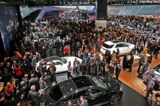 汽车产业的首个大展,位于美国汽车城底特律的北美国际车展已高清图片