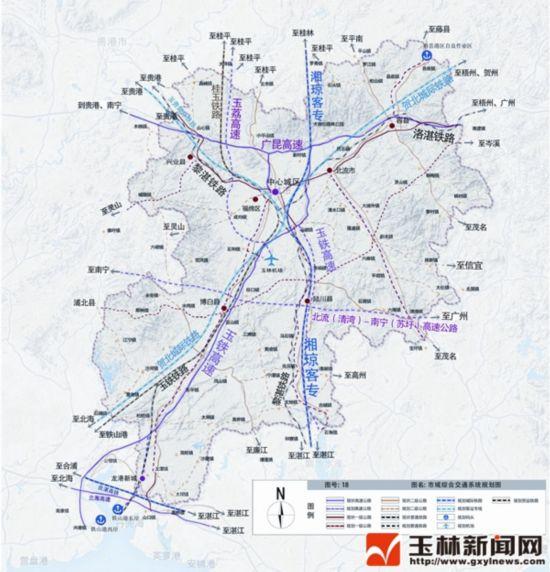 玉林城市v城市交通规划公示玉林中心城将扩至备课第二一单元语文部年级单元编图片
