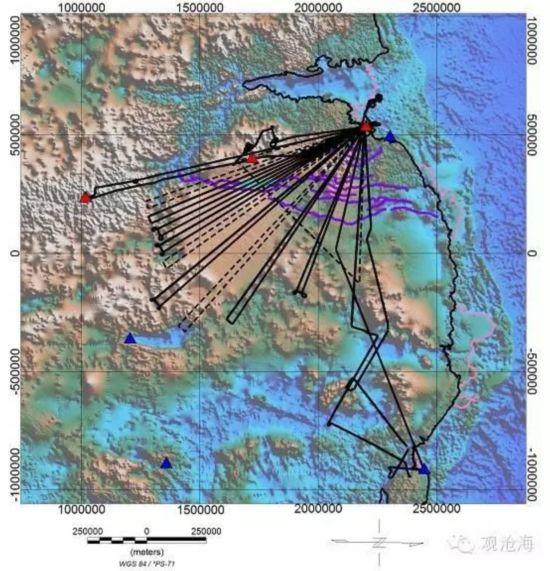 中国科考队在南极发现地球最大峡谷图片