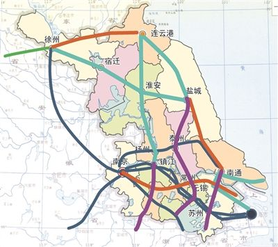 徐州到昆山地图