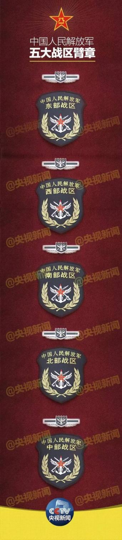 解放军五大战区成立大会在北京举行臂章曝光