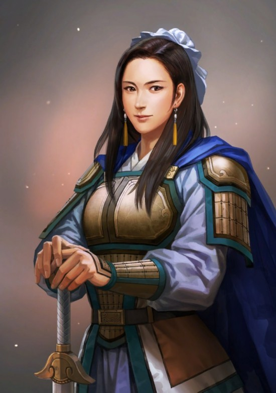 经典系列游戏《三国志13》女武将头像立绘高
