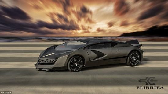 卡塔尔首款本土超跑亮相 碳纤维车身