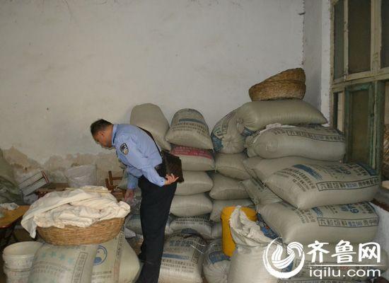 民警查獲用於加工食品的工業鹽