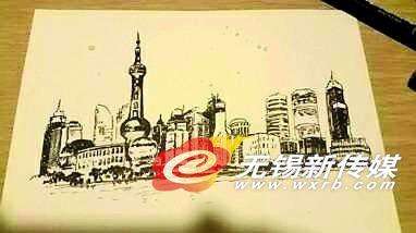 无锡江大学子返乡手绘沿途风景受网友称赞