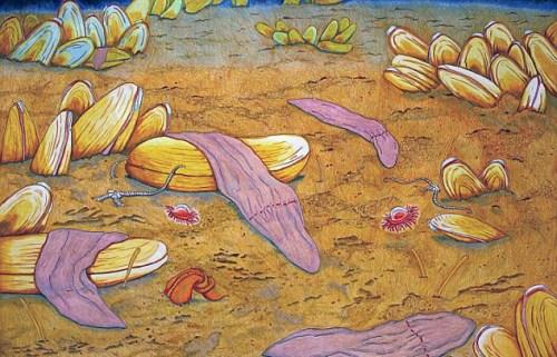 """科学家在深海发现""""异涡虫""""。"""