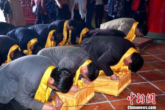 """""""妈祖故里""""福建湄洲祖庙为台湾震区诵经祈福义捐"""