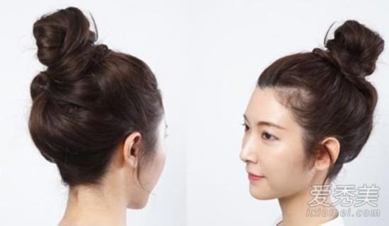 没有丸子头怎么扮少女!6个步骤梳出好发型