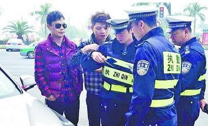 非法改车狂飙被拘
