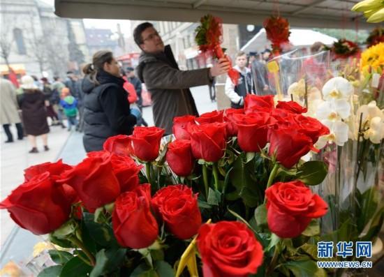 克罗地亚:玫瑰和气球走俏情人节