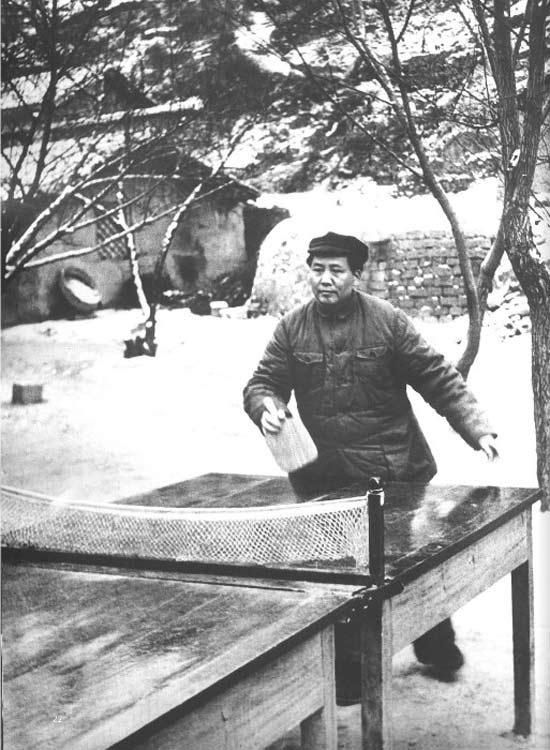 打乒乓球、游泳、看比赛:毛泽东的体育情结(组