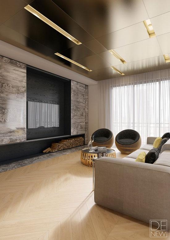 华丽气质小户型 莫斯科两居室公寓