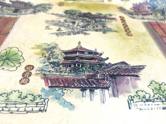 泉州少林寺推出手绘地图 囊括全寺40个景点