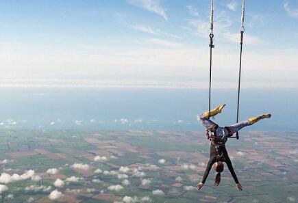 美女3000米倒吊打破纪录 为儿童辅导工程募得1700美元资金
