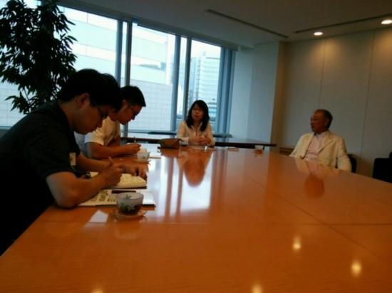 拜访日本财团会长・�G川阳平