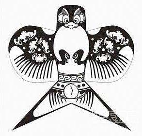 手绘平板鹰风筝