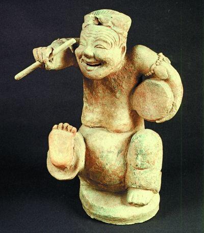 汉代说唱陶俑(1957年成都出土)图片