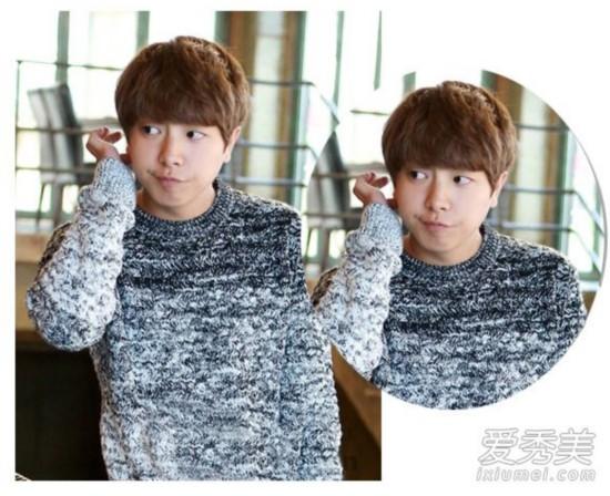 最新男生齐刘海短发图片 冬天搭毛衣更温暖