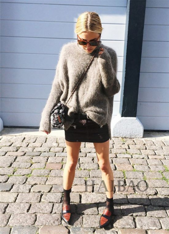 时尚达人演绎尖头平底鞋搭配-不想穿高跟鞋 换换口味 平底鞋也可以很