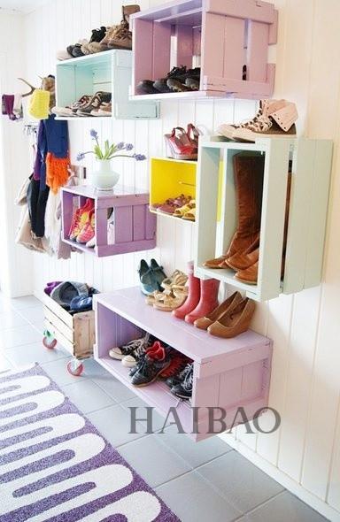 鞋盒子手工制作书桌收纳