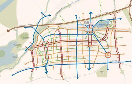 新东站地区单向二分路布局