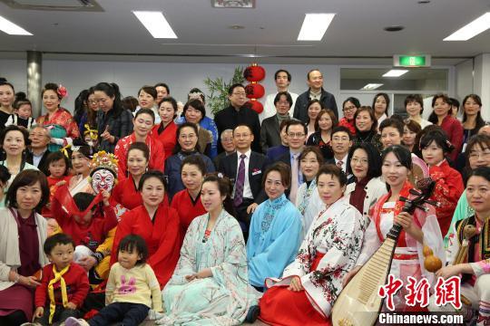 在日汉服会举行周年庆典传播中国文化