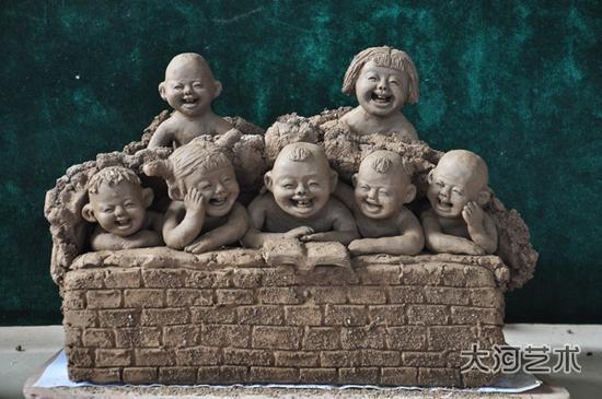 泥塑花瓶作品_艺术家张振福钧瓷泥塑作品--艺术收藏--人民网