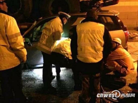 西汉高速西安方向秦岭二号隧道发生车祸 一死