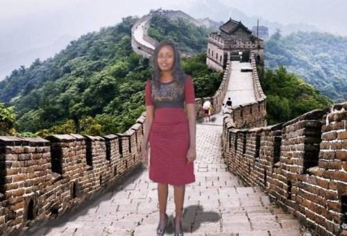 """肯尼亚女子靠PS""""游""""中国或赞助美梦成真(组图)"""