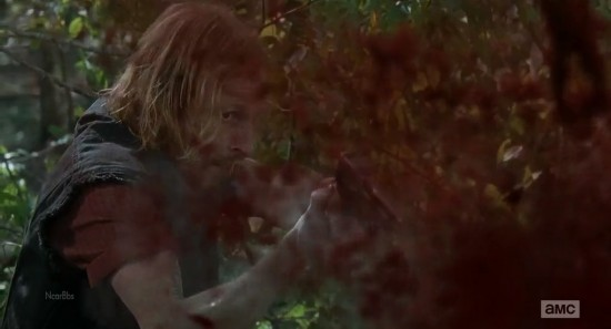 达里尔 德怀特/他们被包围了,当达里尔转身面对他时,德怀特开了一枪。