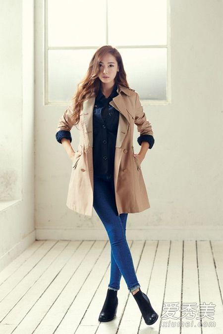 春天就是要穿风衣 韩女星教你风衣搭配 风衣如何搭配