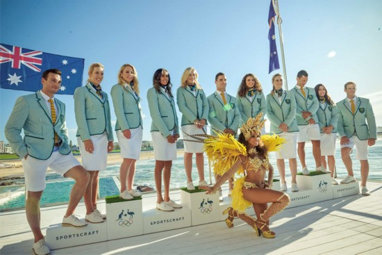 高清:澳大利亚代表团发布2016年里约奥运会制服