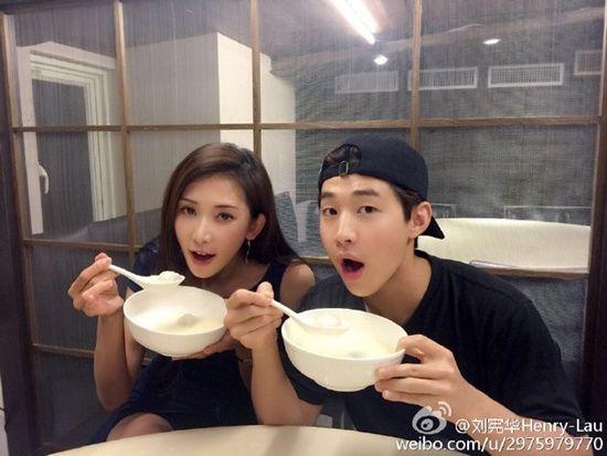 林志玲与Henry吃汤圆网友嫉妒:我也想和你吃(图)