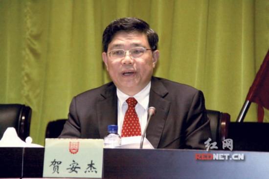 湖南省委组织部副部长、省人社厅厅长、党组书记贺安杰在履新发言中表示,将努力推动人社工作上新水平。