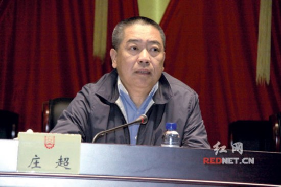 湖南省委组织部副部长庄超宣布任命决定。