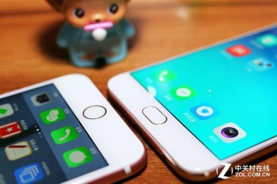 oppo r9 plus对比iphone 6s plus